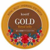 Koelf Гидрогелевые патчи для век с частицами коллоидного золота и маточным молочком Hydro Gel Gold & Royal Jelly Eye Patch