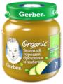 Пюре Gerber Organic Зеленый горошек, брокколи и кабачок (с 7 месяцев) 125 г, 1 шт.
