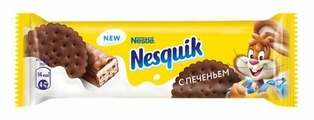 Батончик Nesquik с нугой и какао-печеньем, 39 г