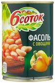 Фасоль 6 соток с овощами в томатном соусе, жестяная банка 425 мл