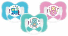 Пустышка силиконовая анатомическая Lubby Малыши и Малышки 0+ (1 шт)
