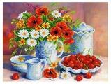 Канва для вышивания с рисунком Каролинка Лето КБЦ-3042 35 х 26.6 см