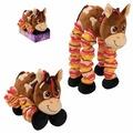 Мягкая игрушка 1 TOY Пружиножки Лошадка 36 см