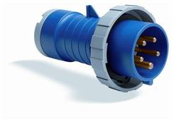 416PFV6 Вилка кабельная с фазоинвертором 16А, 3P+N+E, IP44, 6ч ABB, 2CMA168131R1000