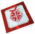 ZENGANA Набор для вышивания бисером и нитками открытка Рождественская звезда (красная) 12 х 12 см (М-001)