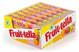 Fruittella Жевательные конфеты Fruit-tella Ассорти с фруктовым соком 21 шт.
