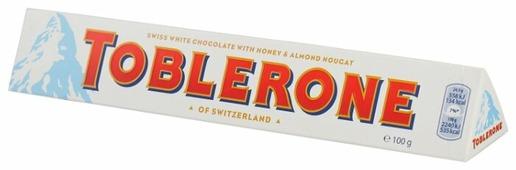 Шоколад Toblerone белый с медом и миндальной нугой