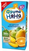 Сок ФрутоНяня Мультифрукт, c 6 месяцев