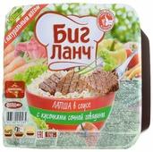 Биг Ланч Лапша быстрого приготовления в соусе с кусочками сочной говядины 110 г