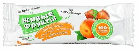 Фруктовый батончик Петродиет Живые фрукты фруктово-ореховый с абрикосом 40 г