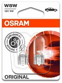 Лампа автомобильная накаливания Osram 2825-02B W5W 5W 2 шт.