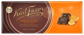 Шоколад Fazer темный со вкусом апельсина 47% какао