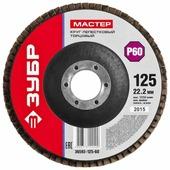 Лепестковый диск ЗУБР 36593-125-60