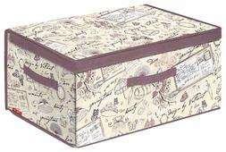Valiant Короб стеллажный с откидной стенкой и с крышкой Romantic RM-BOX-DDM 25х50х35 см