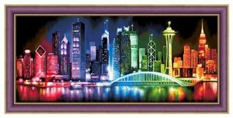 Алмазная живопись Набор алмазной вышивки Сияющий мегаполис (АЖ-1602) 70х30 см