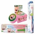 Набор средств ISME зубная паста травяная гвоздичная 25 гр+ зубная паста с алоэ вера и листьями гуавы 30 гр + щетка