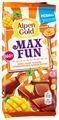 Шоколад Alpen Gold Max Fun молочный манго, ананас, маракуйя, взрывная карамель, шипучие шарики
