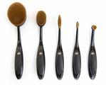 Набор кистей Rio Essential Microfibre Professional Oval Cosmetic Brush Collection, 5 шт.