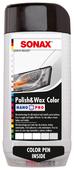 Воск для автомобиля SONAX цветной полироль с воском + карандаш Nano Pro (белый)