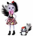 Кукла Enchantimals Седж Скунси с любимой зверюшкой, 15 см, FXM72