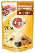 Корм для собак Pedigree Для взрослых собак всех пород с говядиной и ягненком в соусе