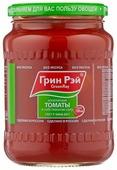 Аппетитные томаты в собственном соку Green Ray стеклянная банка 680 г