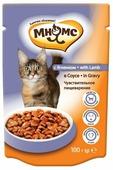Корм для стерилизованных кошек Мнямс для профилактики МКБ, с ягненком 100 г (кусочки в соусе)