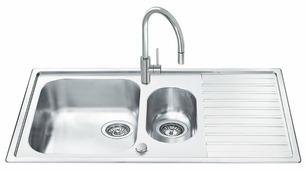 Врезная кухонная мойка smeg LLR102-2 100х50см нержавеющая сталь