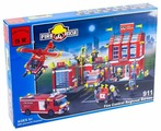 Конструктор Qman Fire Rescue 911 Пожарная часть и техника