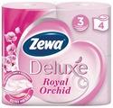 Туалетная бумага Zewa Deluxe Орхидея трёхслойная