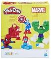 Масса для лепки Play-Doh Герои Марвел: Железный Человек, Человек-Паук, Капитан Америка, Халк (E0375)