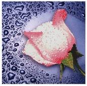 Color Kit Набор алмазной вышивки Белая роза (80214) 25х25 см