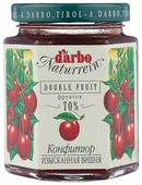 Конфитюр d'arbo Naturrein Double Fruit Вишня Мараска, банка 200 г