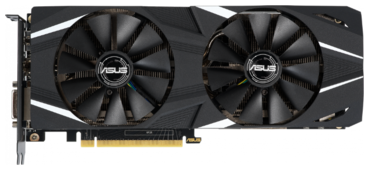 Видеокарта ASUS GeForce RTX 2060 1365MHz PCI-E 3.0 6144MB 14000MHz 192 bit DVI 2xHDMI 2xDisplayPort HDCP DUAL OC