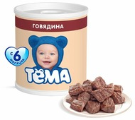 Пюре Тёма говядина (с 6 месяцев) 100 г, 1 шт