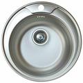Врезная кухонная мойка Kromevye Rondo EC245 49х49см нержавеющая сталь
