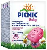Фумигатор + жидкость Picnic Baby от комаров с экстрактом ромашки