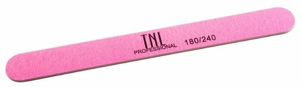 TNL Professional Пилка узкая высокое качество пластиковая основа, 180/240 грит (в индивидуальной упаковке)