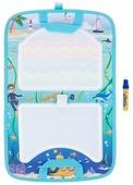 1 TOY Коврик AquaArt для рисования с водным маркером (разноцветный фон, чемоданчик) Т10156
