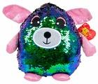 Мягкая игрушка ABtoys Собака с пайетками сине-зеленая 20 см