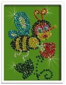 Волшебная Мастерская Мозаика из пайеток Пчелка М004
