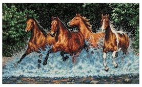 Dimensions Набор для вышивания Galloping Horses (Бегущие лошади) 46 х 25 см (35214)