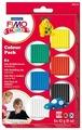 Полимерная глина FIMO Kids Базовый 6 блоков по 42 гр (8032-01)