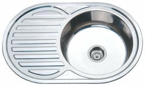 Врезная кухонная мойка Ростовская Мануфактура Сантехники MG8-7750OVR 77х50см нержавеющая сталь