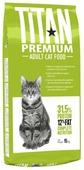 Корм для кошек Titan Premium домашняя птица и с рисом 15 кг