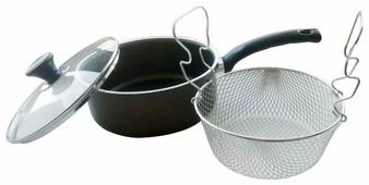 Сковорода для фритюра Mehtap 118-22 22 см с крышкой