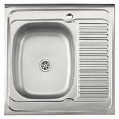 Накладная кухонная мойка Ledeme L76060-L 60х60см нержавеющая сталь