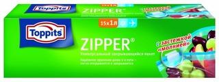 Пакеты для хранения продуктов Toppits Zipper