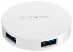 USB-концентратор ORICO HA4U-U3, разъемов: 4
