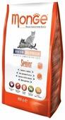Корм для пожилых кошек Monge Superpremium Cat для здоровья кожи и шерсти, с курицей